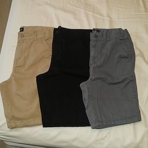 3 pair of boys chino shorts size 10H